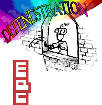 Defenestrating npm. Original: http://trappedinvacancy.deviantart.com/art/Defenestration-115846260